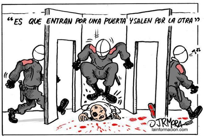 polícia terror repressão indignados