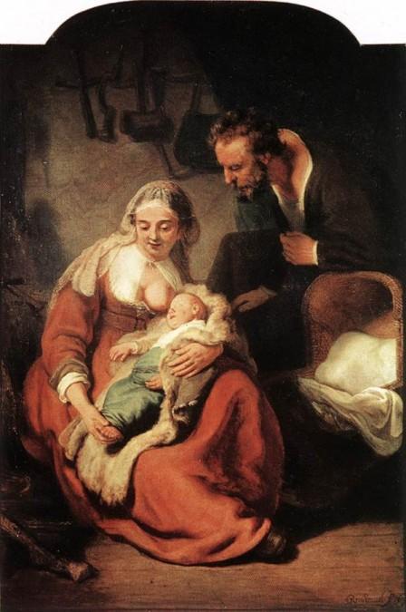 Esta tela de Rembrant van Rigt falseia as idades de Maria e José