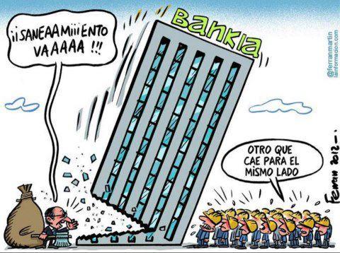 banco banqueiro indignados