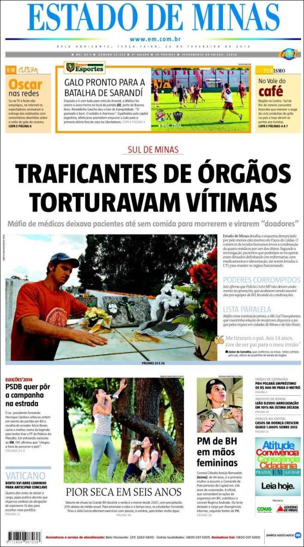 jornal_estado_minas. médicos medicina tráfico órgão