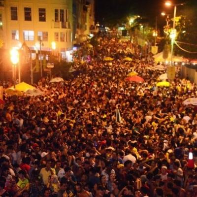 Mais de 30 mil pessoas no centro