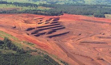 Mina de nióbio em Araxá-MG, explorada pela CBMM