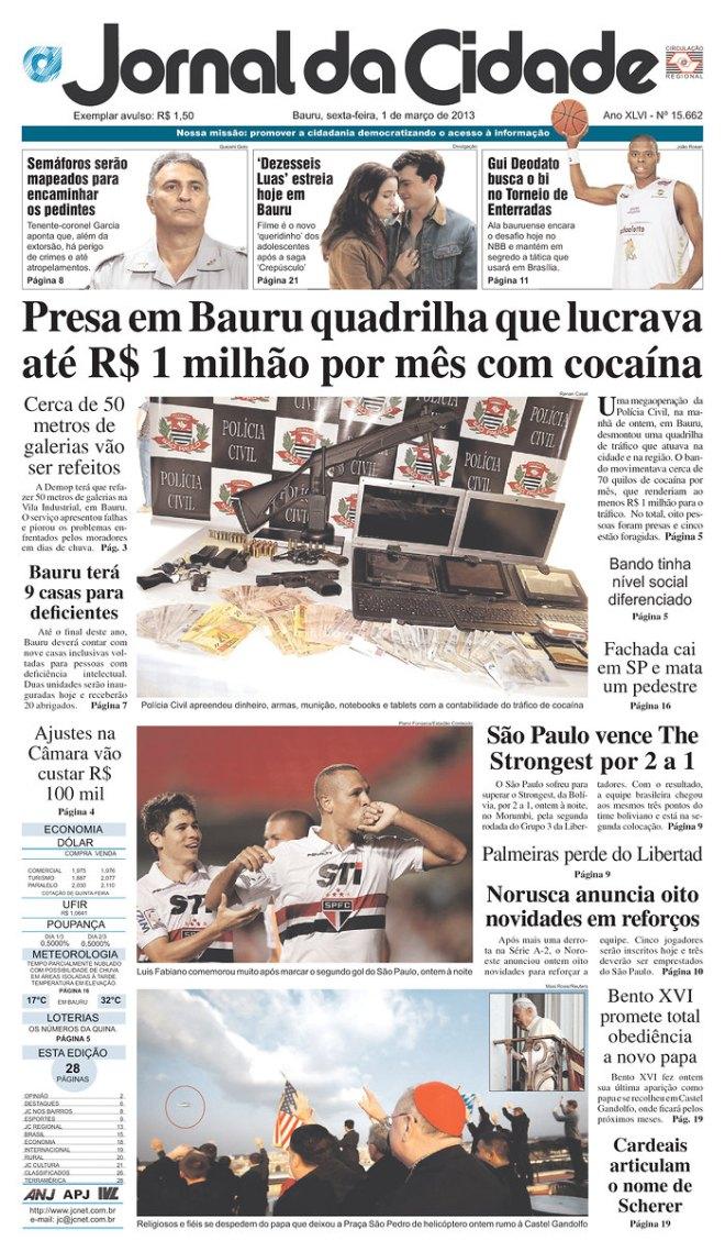 BRA_CIDADE lucro cocaína