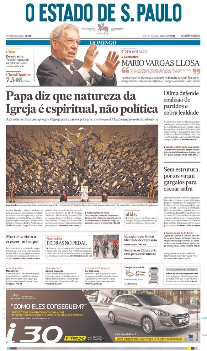 BRA_OE papa nao para a política