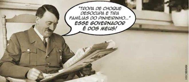 Charge_HitlerJornal_despejo Pinheirinho indignados
