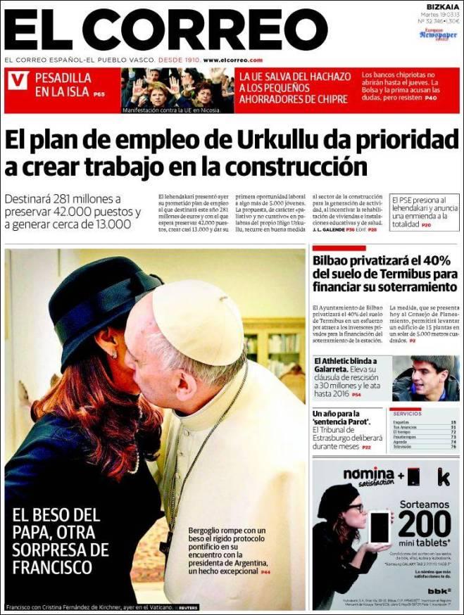 elcorreo. beijo Cristina papa