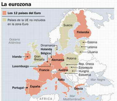 Los países de la Eurozona
