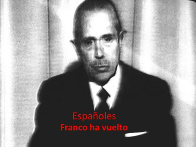 Franco Espanha ditadura indignados