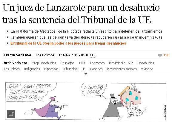 justiça Espanha despejo