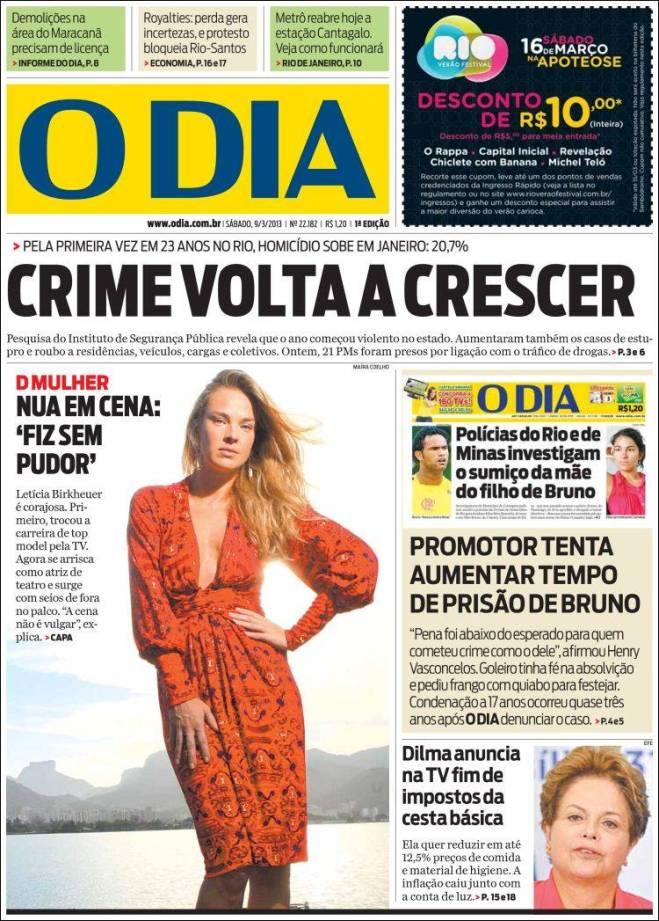 o_dia. crime morte polícia