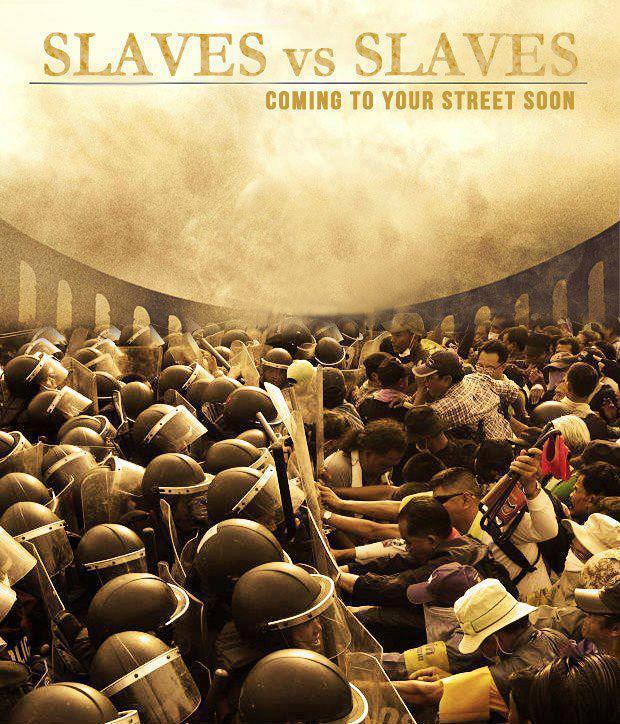 polícia povo repressão escravos