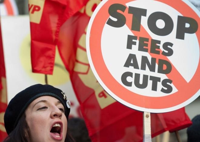 Protesto estudantil em Londres