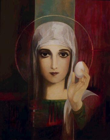 Retrato de Maria Madalena, em catedral com seu nome, em Jerusalém