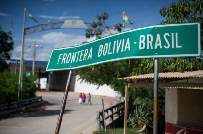 A fronteira da Bolívia é uma das utilizadas para os ilegais entrarem no Brasil YASUYOSHI CHIBA/AFP