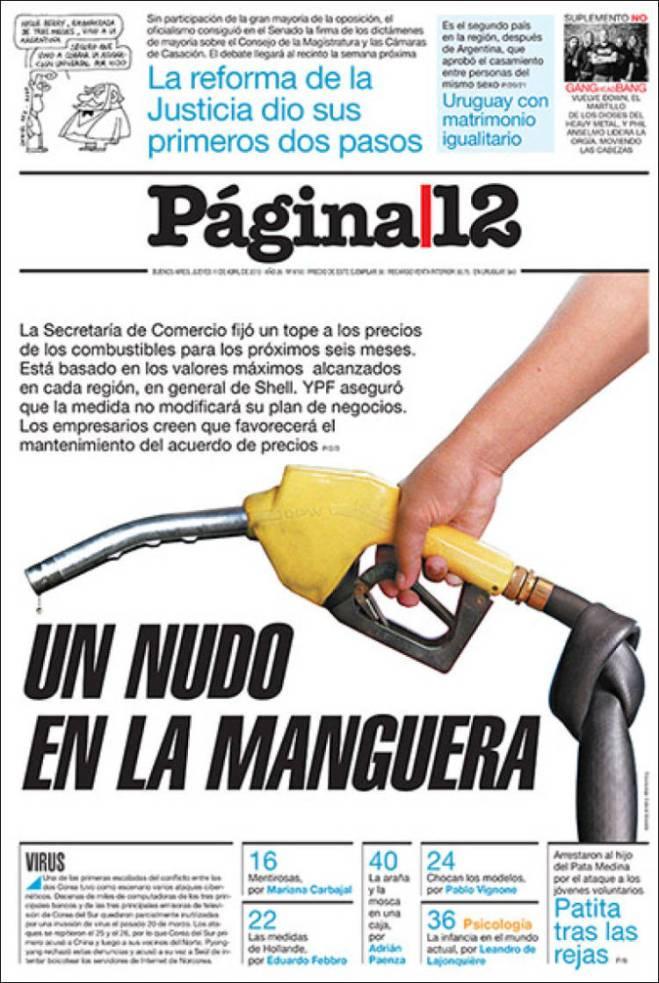 Argentina congela preço da gasolina. No Brasil sobe. Ana abriu as pernas...