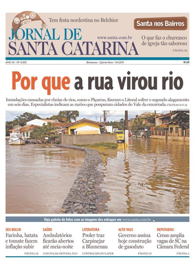 BRA_JSC chuva inundação enchente