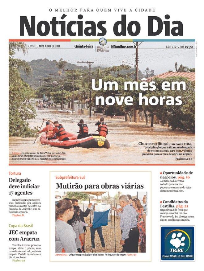 BRA^SC_NDOD chuva enchente inundação