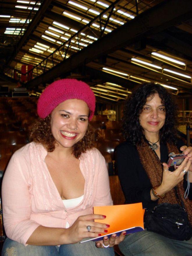 Nina Rizzi no lançamento fo seu livro        ,no Centro Cultural São Paulo