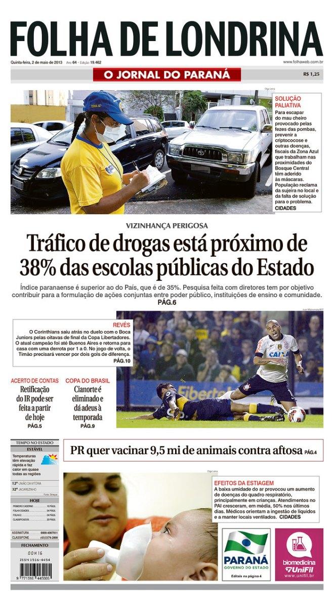 BRA_FDL A polícia do Paraná agora tem os endereços das bocas nas escolas. Mas não vai fazer nada