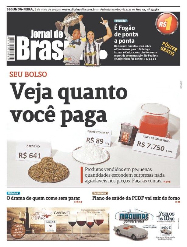 BRA_JOBR e quanto custa um litro de água engarrafada em Brasília?