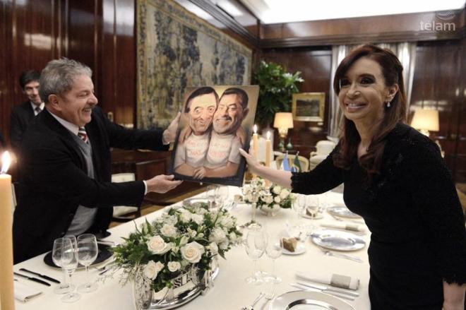 Cristina ofreció una cena a Lula