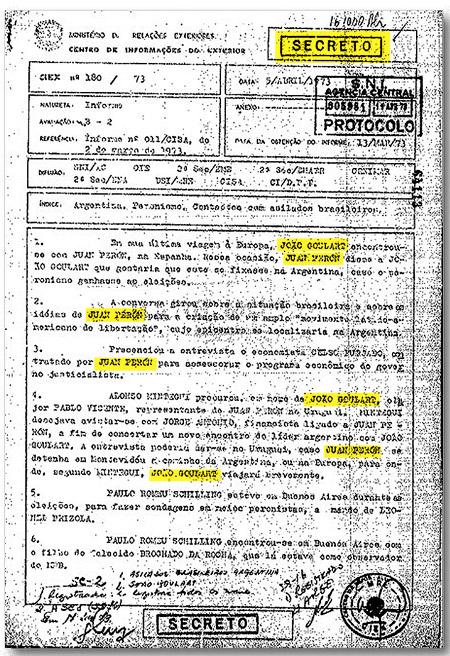 El documento secreto que se refiere a los ex presidentes