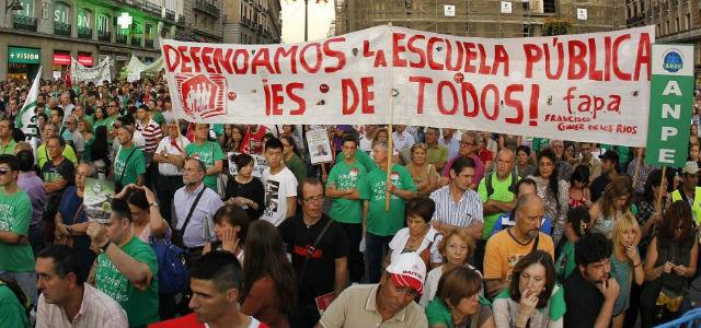 hoy escola Madri greve