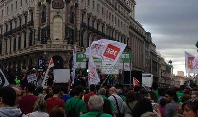 La marcha de Madrid se dirige hacia la Puerta del Sol