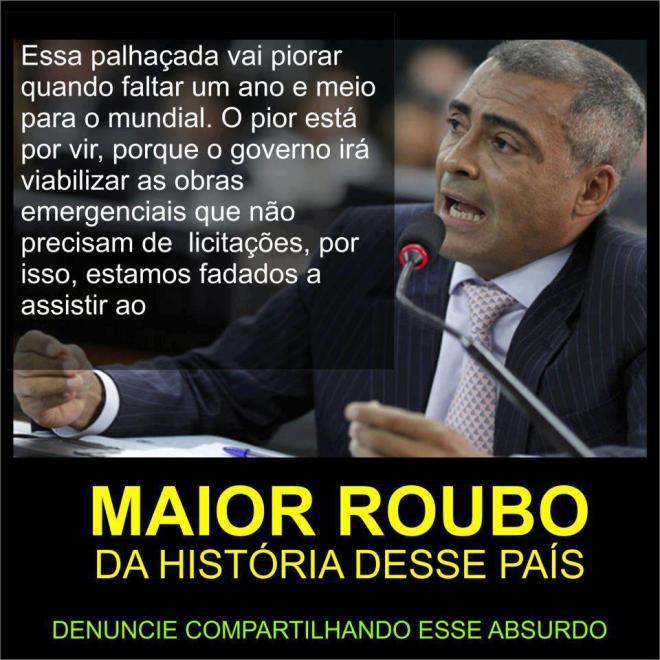 Romário copa estádio futebol