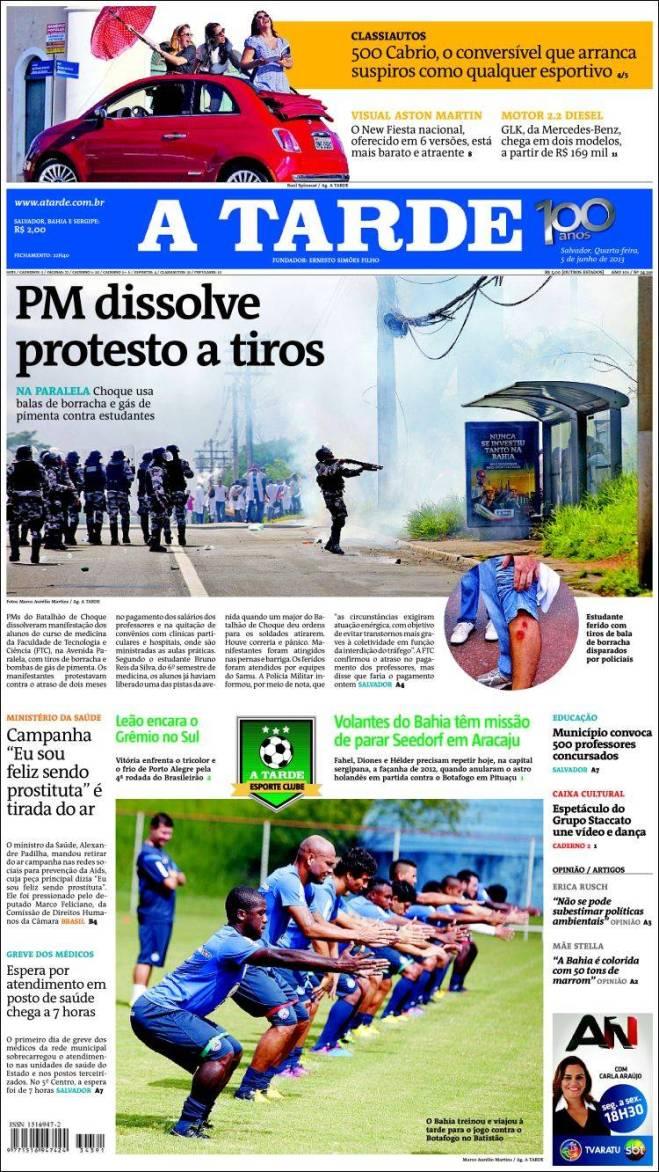 br_atarde. polícia contra estudantes