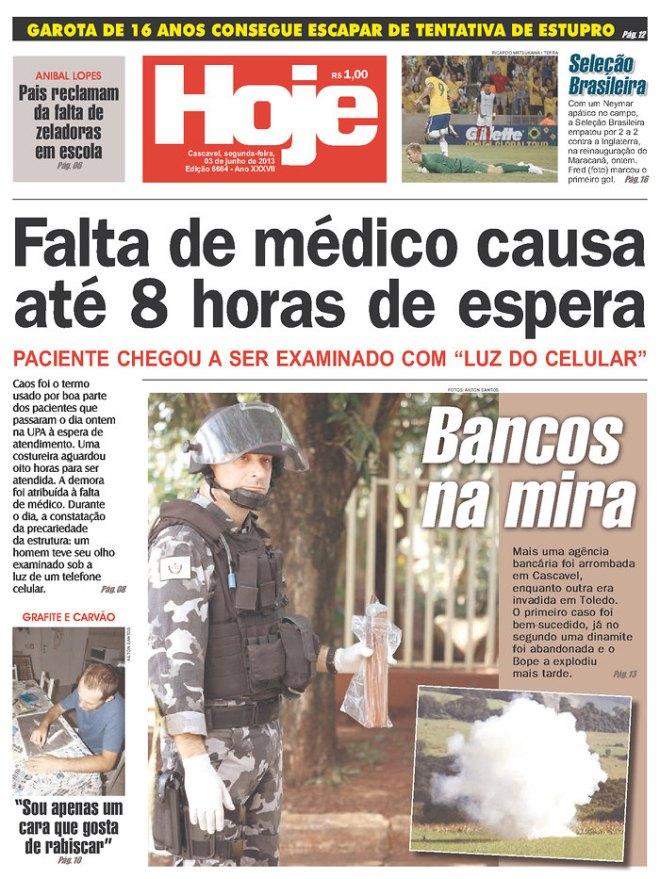 Falta médico até em Porto Alegre. Acontece nas capitais e nas distantes e pequenas cidades do distante interior.