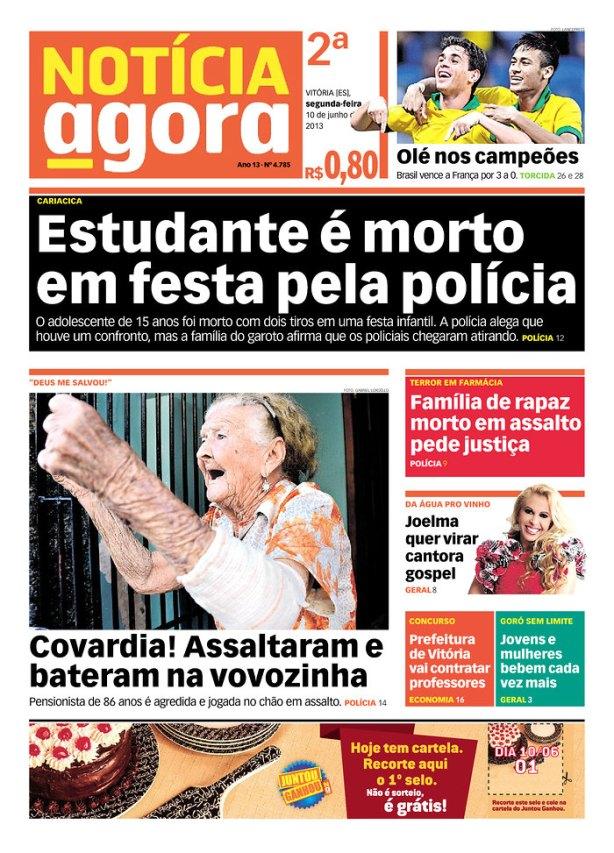 BRA_NOTA Vitória policia mata jovem