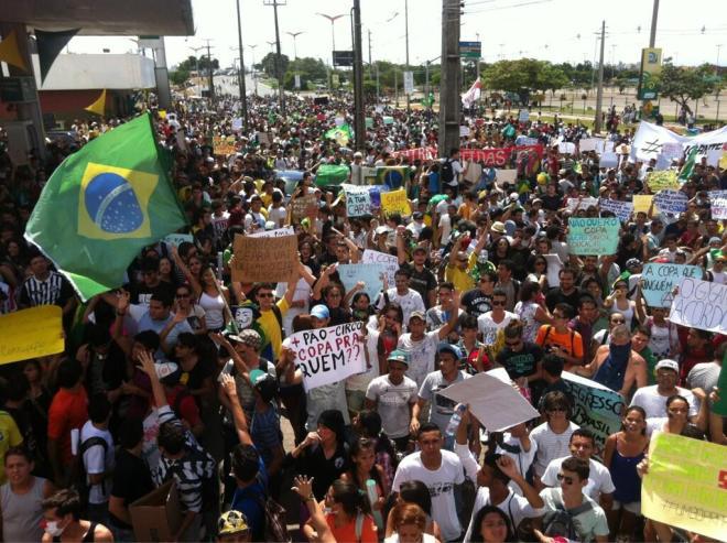 Brézil-Mexique a Fortaleza. Eric Frosio