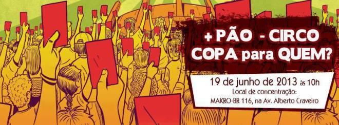 Fortaleza Copa protesto amanhã