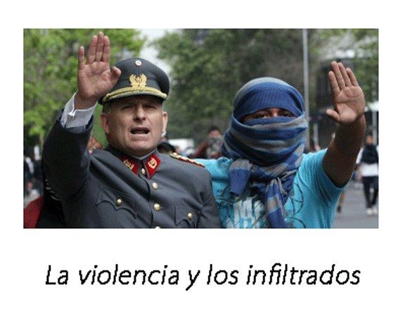 infiltrados no Chile