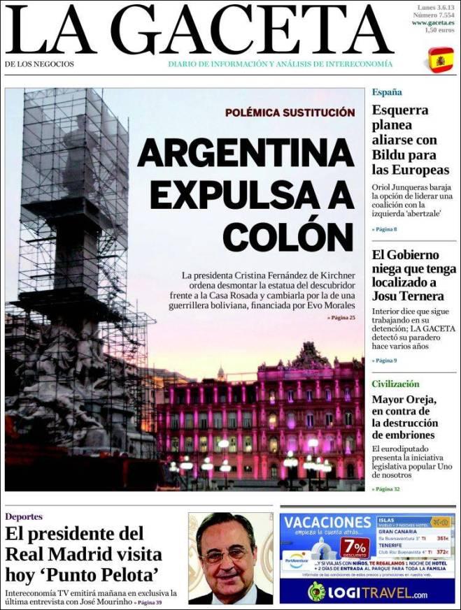 la_gaceta. Argentina Colombo