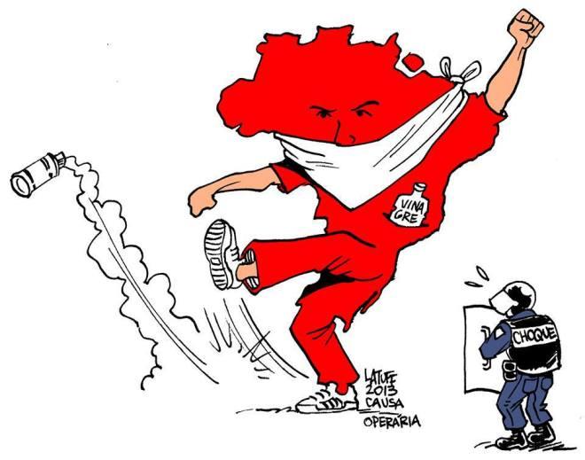 """""""E a juventude brasileira começa a despertar!"""", por Carlos Latuff"""