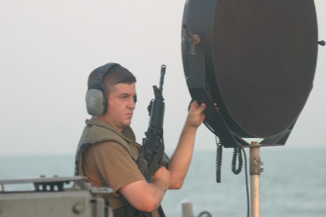 Canhão sônico, arma de guerra. Foto: LRAD, in US Navy