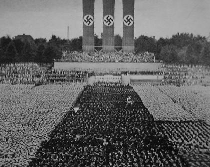 Manifestação na Alemanha de Hitler