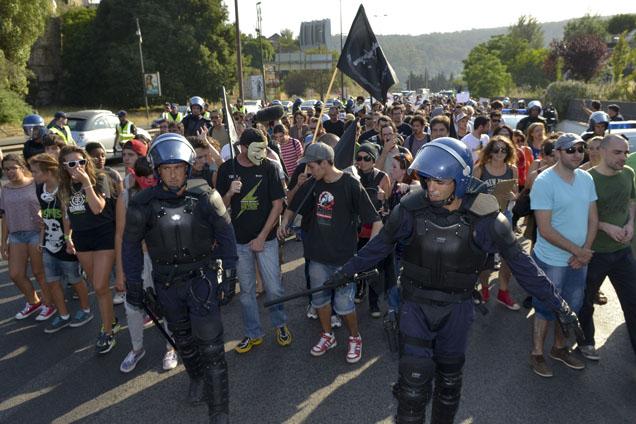 Lisboa: Manifestação na greve geral de 27 de Junho