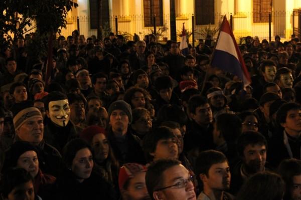 """Fawkes:""""El pueblo no deberá temer a los gobernantes, los gobernantes deberán temer al pueblo"""". Foto: Mónica Omayra"""