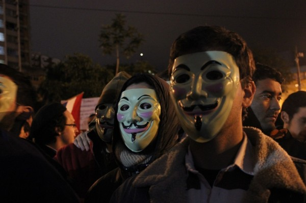 """""""Bajo esta máscara hay algo más que carne y hueso, bajo esta máscara hay unos ideales, y los ideales son a prueba de bala"""". Foto: Mónica Omayra"""