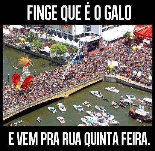 protesto recife finge Galo