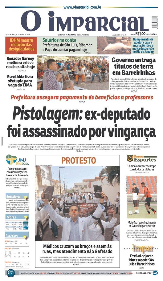 Maranhão já fez uma CPI da pistolagem que lavou muito sangue