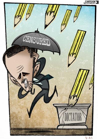 Não tenho medo. Vote livre. Desenho de Giacomo Cardelli