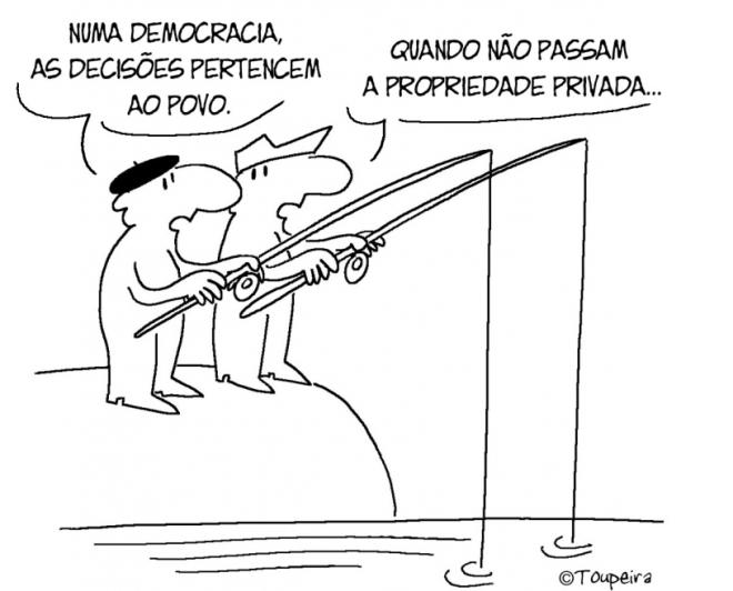 democracia propriedade humor