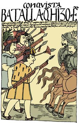 Desenho do grande cronista índio Felipe Huaman Poma de Ayala