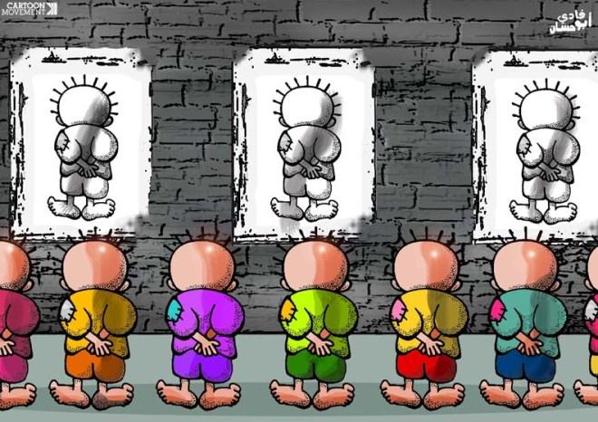Os eleitores do Sinjpe/Fenaj. Ilustração de Fadi Abou Hassan