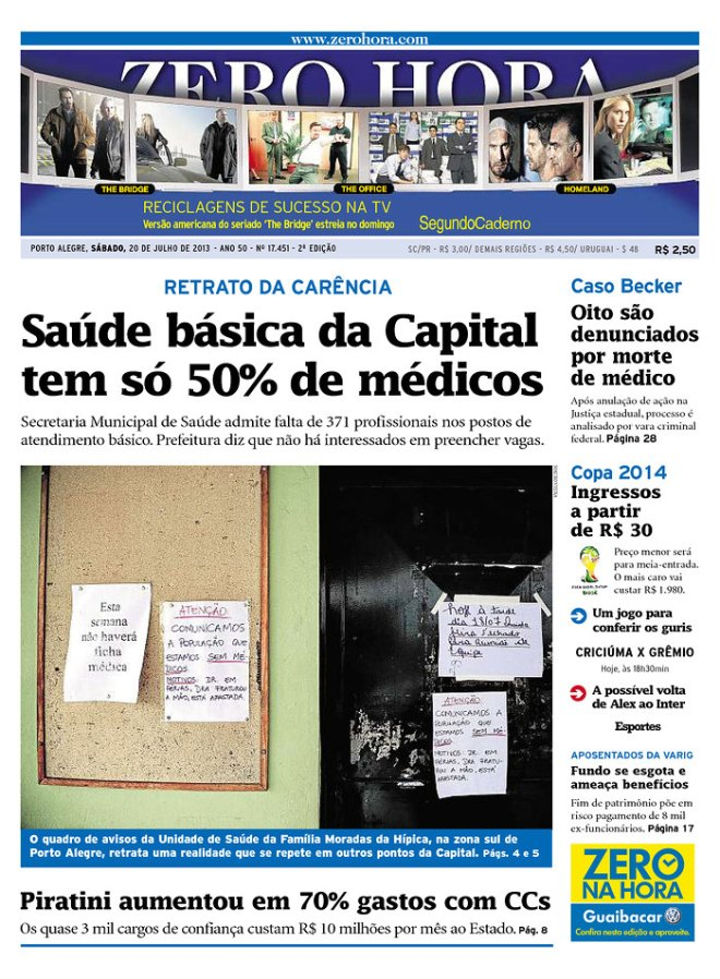 Falta médico em Porto Alegre