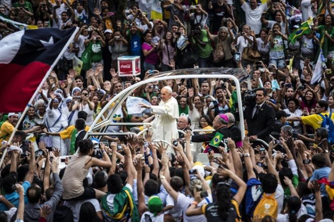 POPE FRANCIS VISITS RIO DE JANEIRO